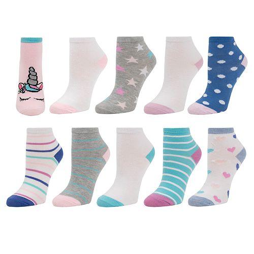 Girls 7-16 SO® 10-pack Ankle Socks