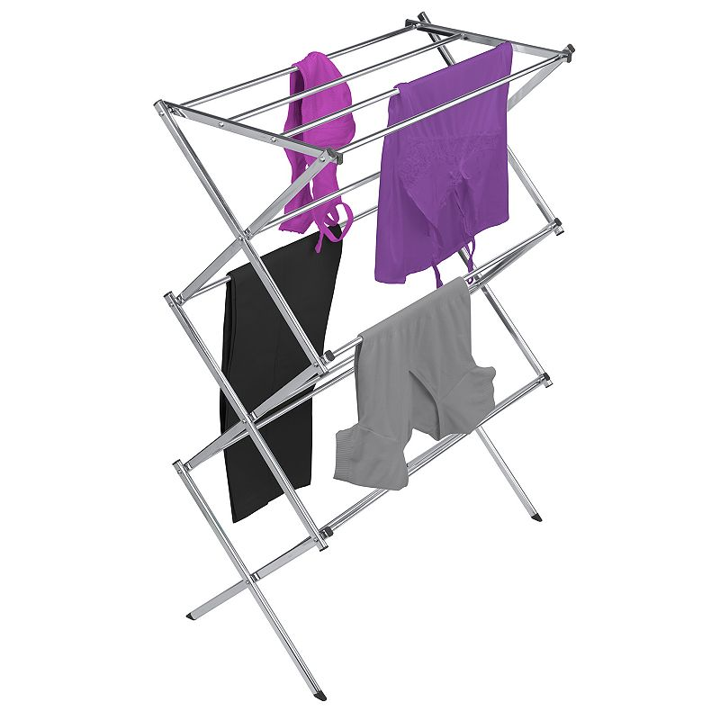Woolite Drying Rack, Adult Unisex, Size: DRY RACK, Grey Dry all of your delicate laundry with ease, thanks to this Woolite drying rack. 29'' x 14.75'' x 42'' Over 25-ft. of linear storage space 11 drying bars Collapsible design Lightweight construction Weight capacity: 10-lbs. CONSTRUCTION & CARE Metal Wipe clean Imported Gift Givers: This item ships in its original packaging. If intended as a gift, the packaging may reveal the contents. Size: DRY RACK. Color: Grey. Gender: unisex. Age Group: adult.