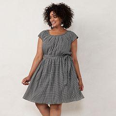935ff631c628c Plus Size LC Lauren Conrad Pleat Neck Dress