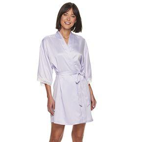 Women's Apt. 9® Solid Satin Wrap Robe