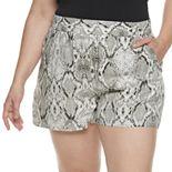 Plus Size Apt. 9® Print Challis Shorts