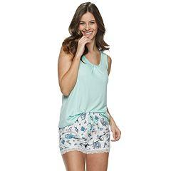 Women's Gloria Vanderbilt Tank And Shorts Pajama Set