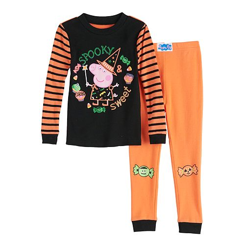 Toddler Girl Peppa Pig Halloween Pajama Set