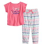"Toddler Girl Jammies For Your Families Mommy & Me ""Got It From My Mama"" Top & Bottoms Pajama Set by Cuddl Duds"