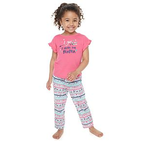 """Toddler Girl Jammies For Your Families Mommy & Me """"Got It From My Mama"""" Top & Bottoms Pajama Set by Cuddl Duds"""