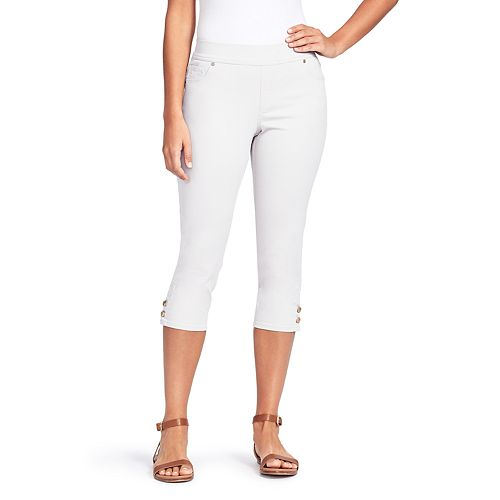 Petite Gloria Vanderbilt Avery Pull on Capri