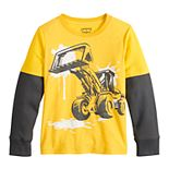 Boys 4-12 Jumping Beans® Bulldozer Mock Layer Graphic Tee