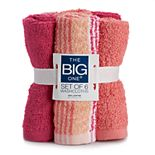 The Big One® 6-pack Multi Color Washcloths