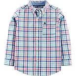 Boys 4-14 Carter's Plaid Button Down Shirt