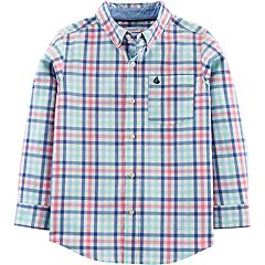 Boys 4-14 Carter's Plaid Button Down Shirt