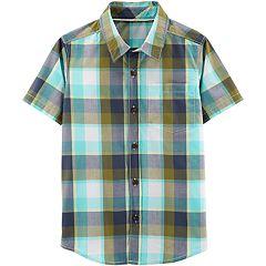 85a60ad3 Boys 4-12 Carter's Plaid Button Down Shirt