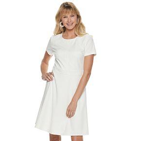 Women's ELLE? Lace Trim Fit & Flare Dress
