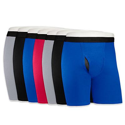 Men's Fruit of the Loom Signature 5-pack + 2 Bonus Cool Zone Fly Long-Leg Boxer Briefs