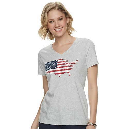 Women's SONOMA Goods for Life™ Patriotic V-neck Graphic Tee