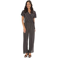 20f57ae6cc63cf Petite Apt. 9® Striped Surplice Jumpsuit