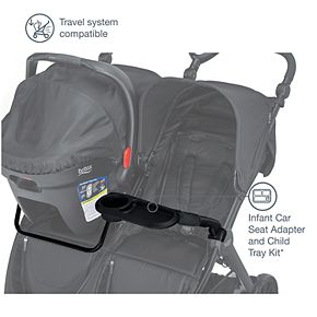 Britax B-Lively Double Infant Car Seat Adapter and Child Tray Kit