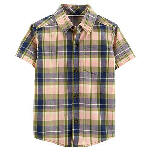 Toddler Boy Carter's Plaid Button Down Shirt