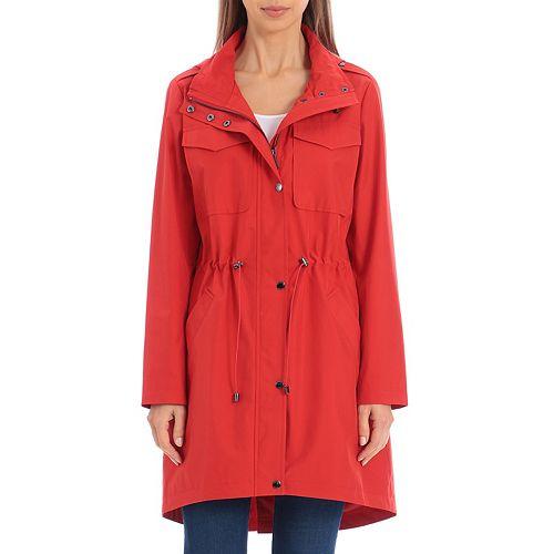 Women's Bagatelle Sport High-Low Anorak Rain Jacket