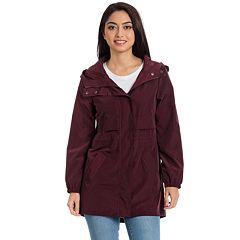 Women's Bagatelle Sport Hooded Packable Anorak Raincoat