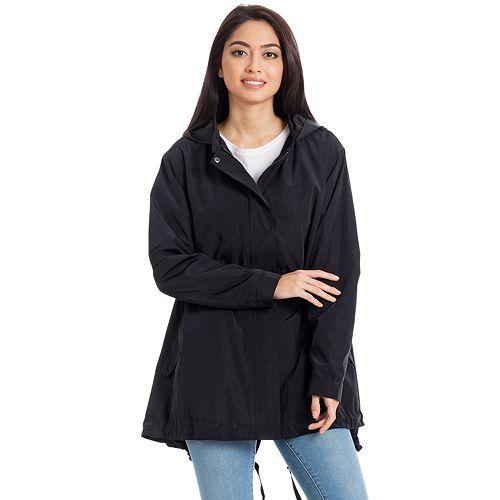 Women's Bagatelle Sport Hooded Swing Packable Raincoat