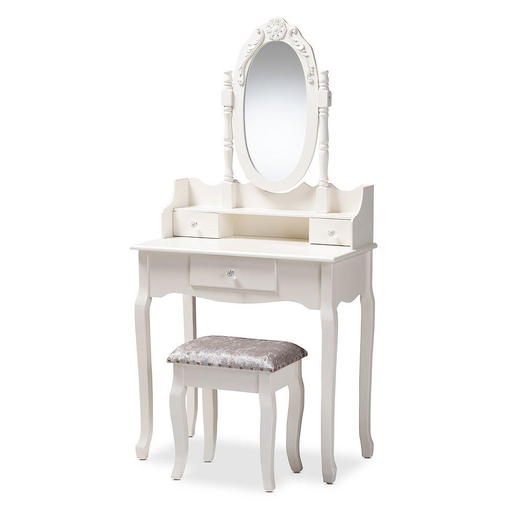 Baxton Studio Veronique White Bathroom Vanity