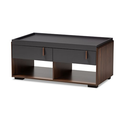 Baxton Studio Rikke Charcoal Coffee Table