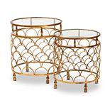 Baxton Studio Aliya Gold Table 2-Piece Set