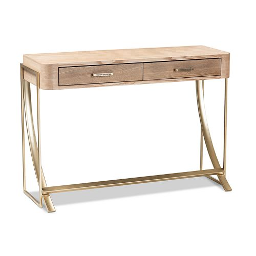 Baxton Studio Lafoy Natural Console Table
