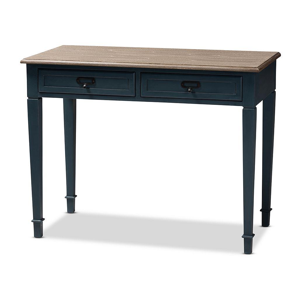 Baxton Studio Dauphine Dark Blue Desk