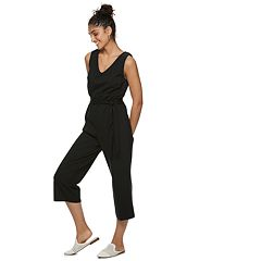 Jumpsuits & Rompers Sunner Womens Cotton Button Front Ruffle V-neck Romper Black White Size 0