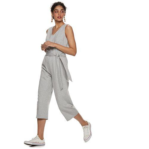 Women's POPSUGAR Tie-Front Knit Jumpsuit