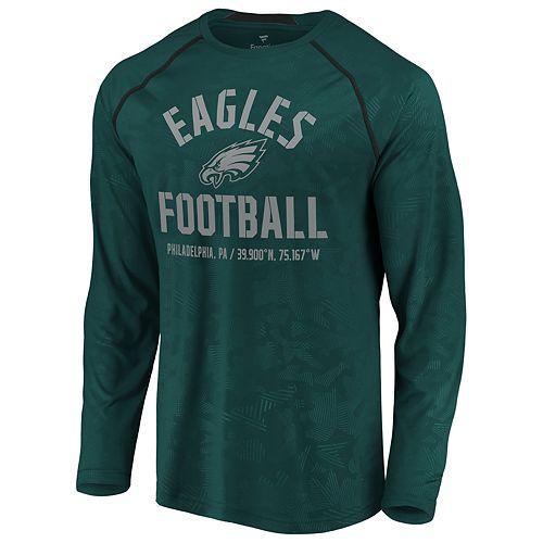 NFL Philadelphia Eagles Ultra Game Mens LS CREW PULLOVER Small Black