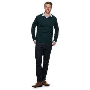 Men's Apt. 9® Merino Wool-blend V-neck Sweater
