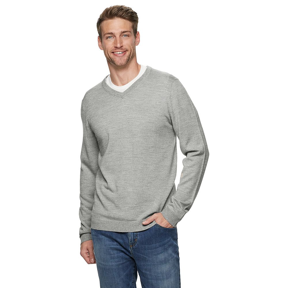 Men's Apt. 9® Merino Wool-Blend V-neck Sweater