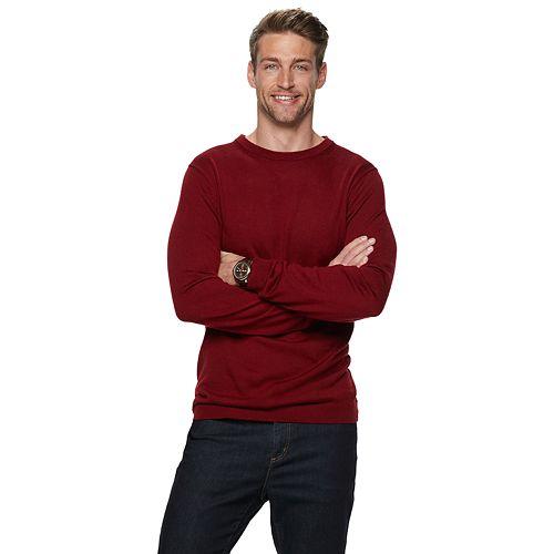 Men's Apt. 9® Merino Wool-Blend Crewneck Sweater