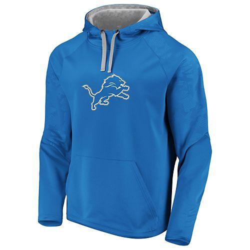 Mens NFL Detroit Lions Defender Primary Logo Pullover