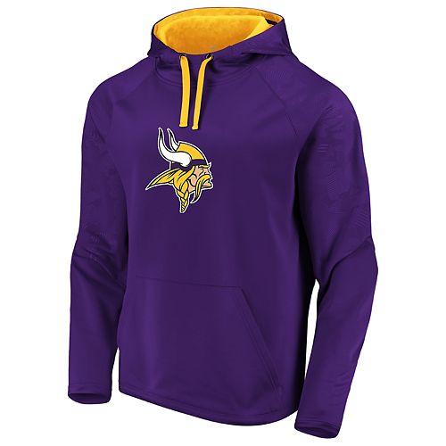 Mens NFL Minnesota Vikings Defender Primary Logo Pullover