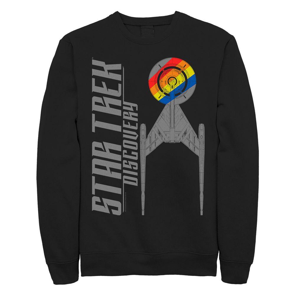 Juniors' Star Trek:Discovery Rainbow Ship Graphic Sweatshirt