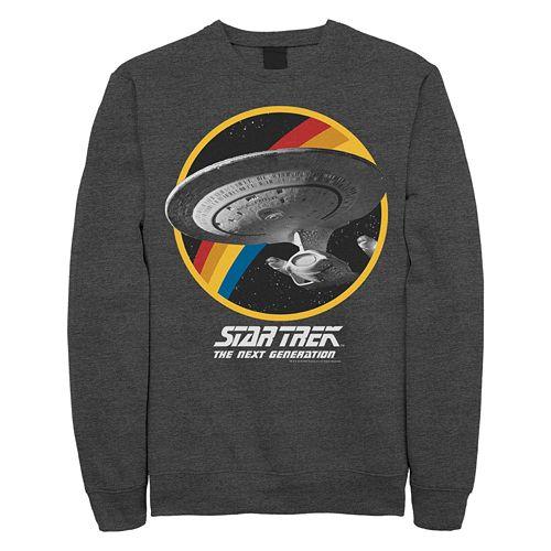 Juniors' Star Trek: The Next Generation Circle Rainbow Ship Graphic Sweatshirt