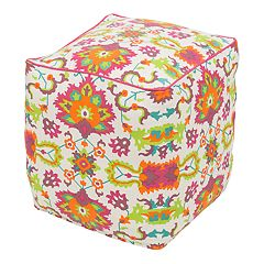 Decor 140 Exalted Leather Blend Pouf