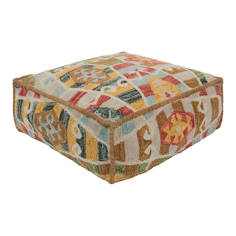 Decor 140 Bristol Leather Pouf
