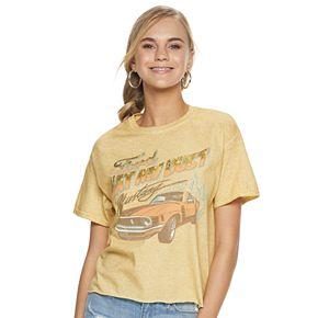 "Juniors' Vintage Style Ford Tee ""Eat My Dust"""