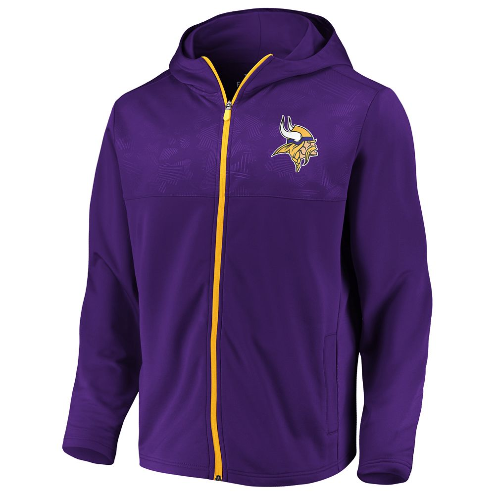 Men's NFL Minnesota Vikings Defender Mission Zip-Up
