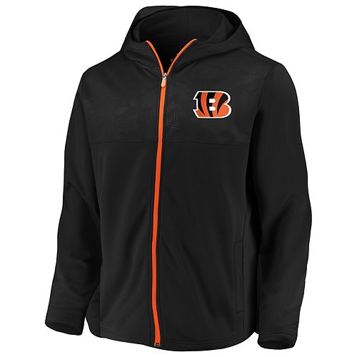Mens NFL Cincinnati Bengals Defender Mission Zip-Up
