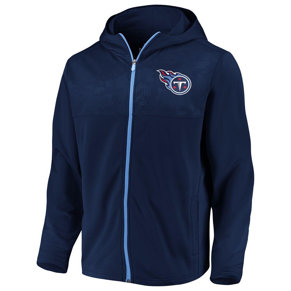 Mens NFL Tennessee Titans Defender Mission Zip-Up