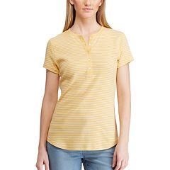 Women's Chaps Short Sleeve Henley Tee