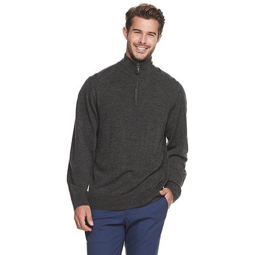 Men's Haggar® 1/4 Zip Solid Textured Sweater