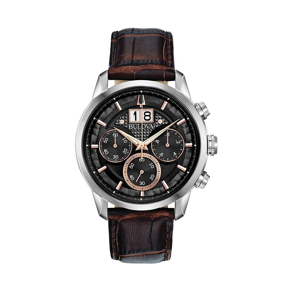 Bulova Men's Sutton Leather Chronograph Watch - 96B311