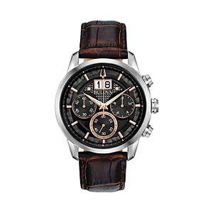 Bulova Men's Sutton Leather Chronograph Watch - 96B311
