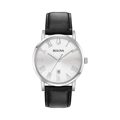 Bulova Men's American Clipper Leather Watch - 96B312